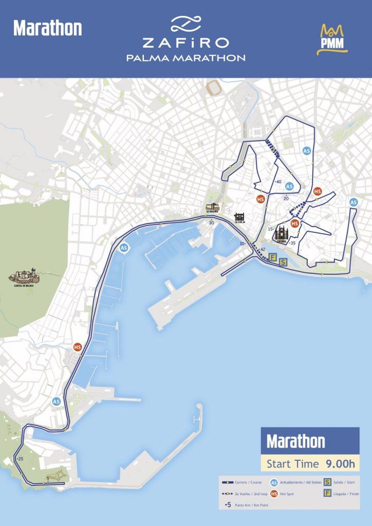 Трасса Пальмского марафона (Zafiro Palma Marathon) 2019