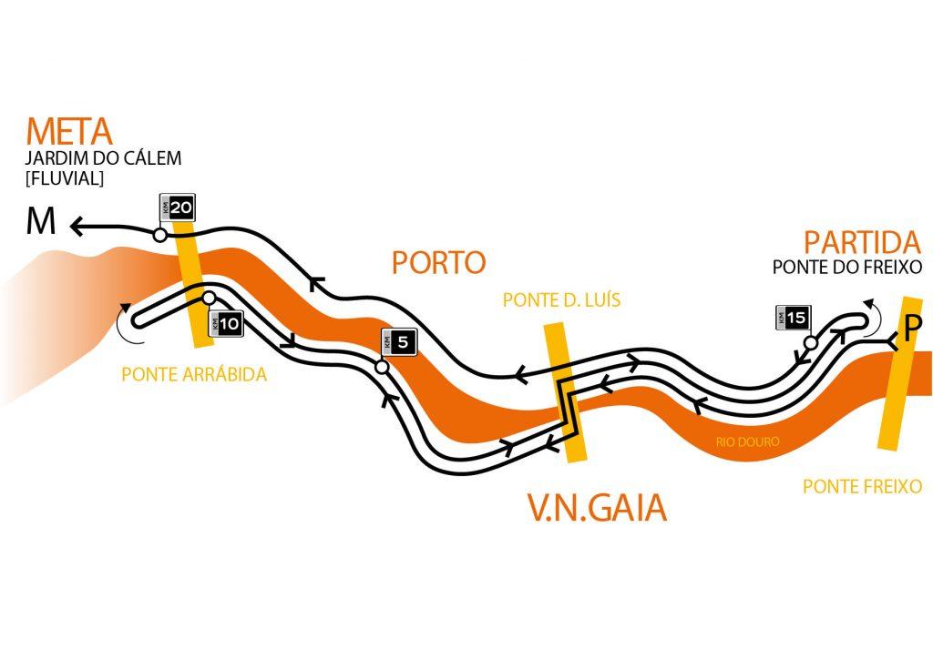 Трасса полумарафона в Порту(Hyundai Meia Maratona do Porto) 2019
