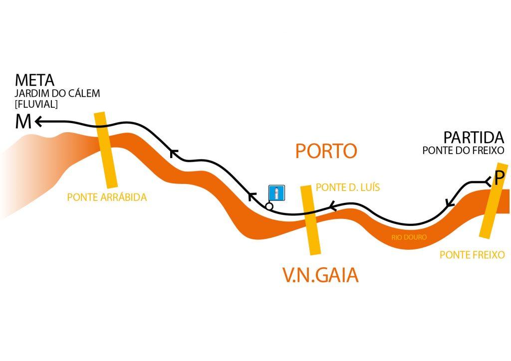 Трасса забега на 6 км в рамках полумарафона в Порту(Hyundai Meia Maratona do Porto) 2019