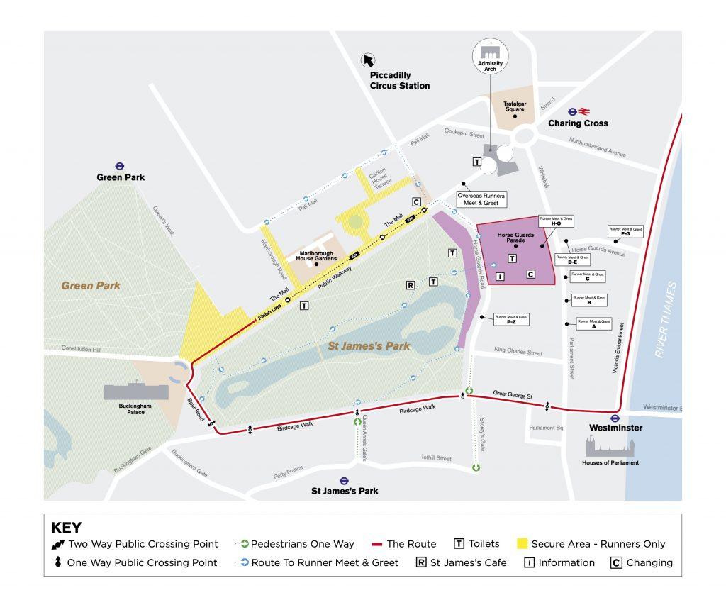 Зона финиша Лондонского марафона (Virgin Money London Marathon) 2019