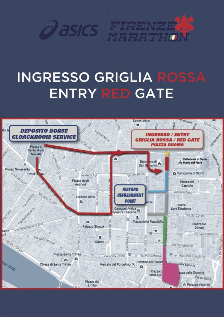 Зона старта Флорентийского марафона (Asics Firenze Marathon) 2020