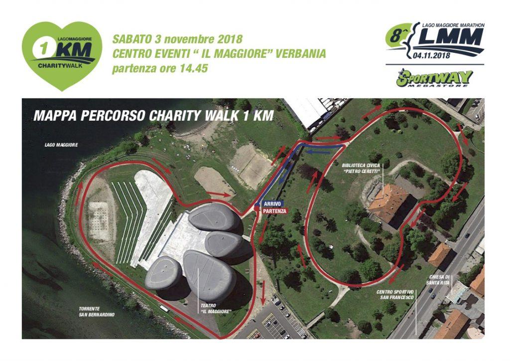 Трасса соревнования на 1 км в рамках Марафона озера Лаго-Маджоре (Sportway Lago Maggiore Marathon) 2018