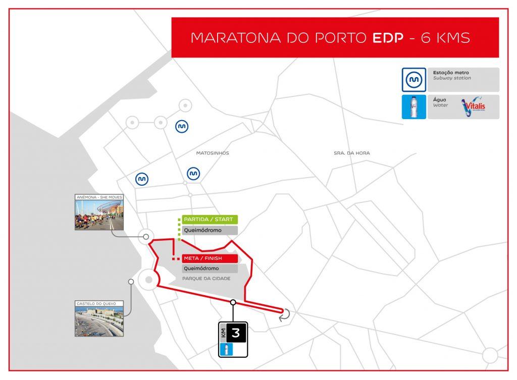 Трасса забега на 6 км в рамках Марафона в Порту (Maratona do Porto EDP) 2019
