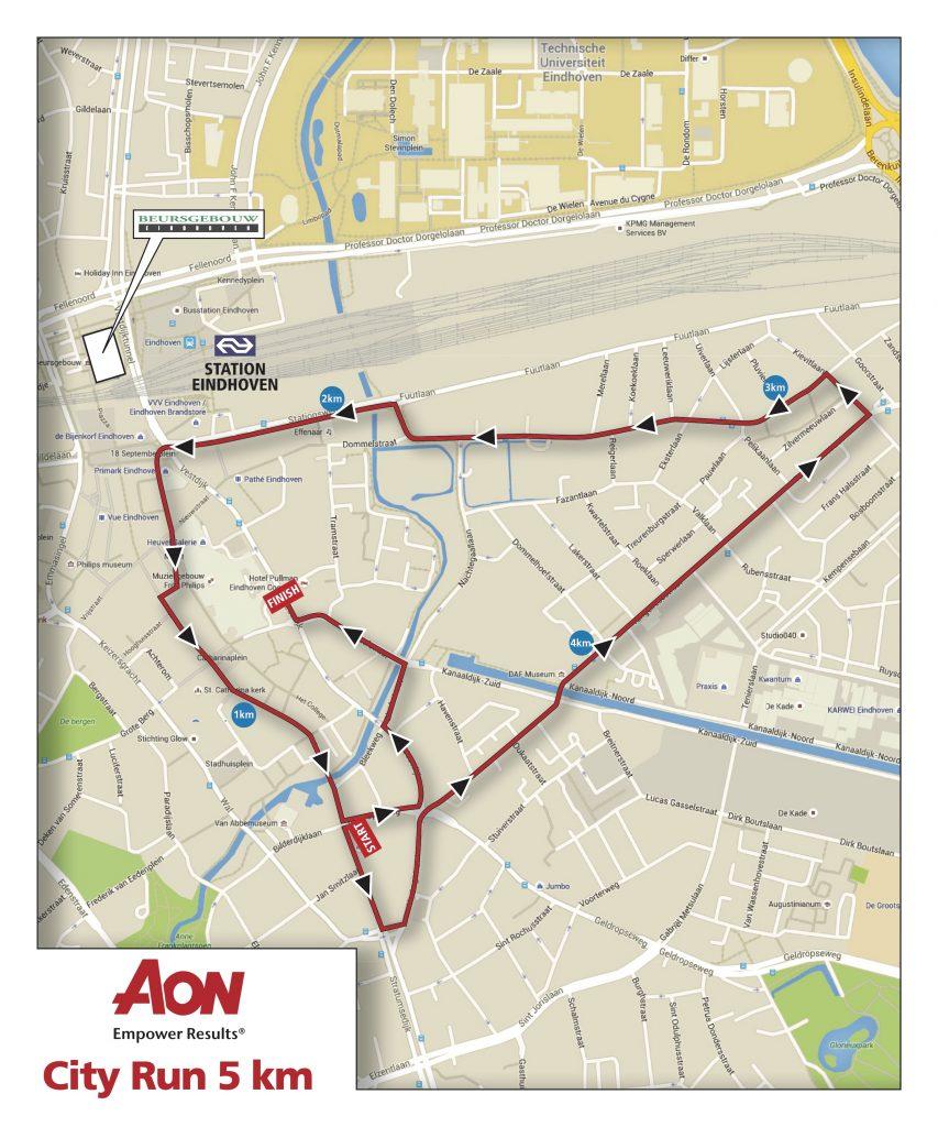 Трасса забега на 5 км в рамках Эйндховенского марафона (Marathon Eindhoven powered by ASML) 2019