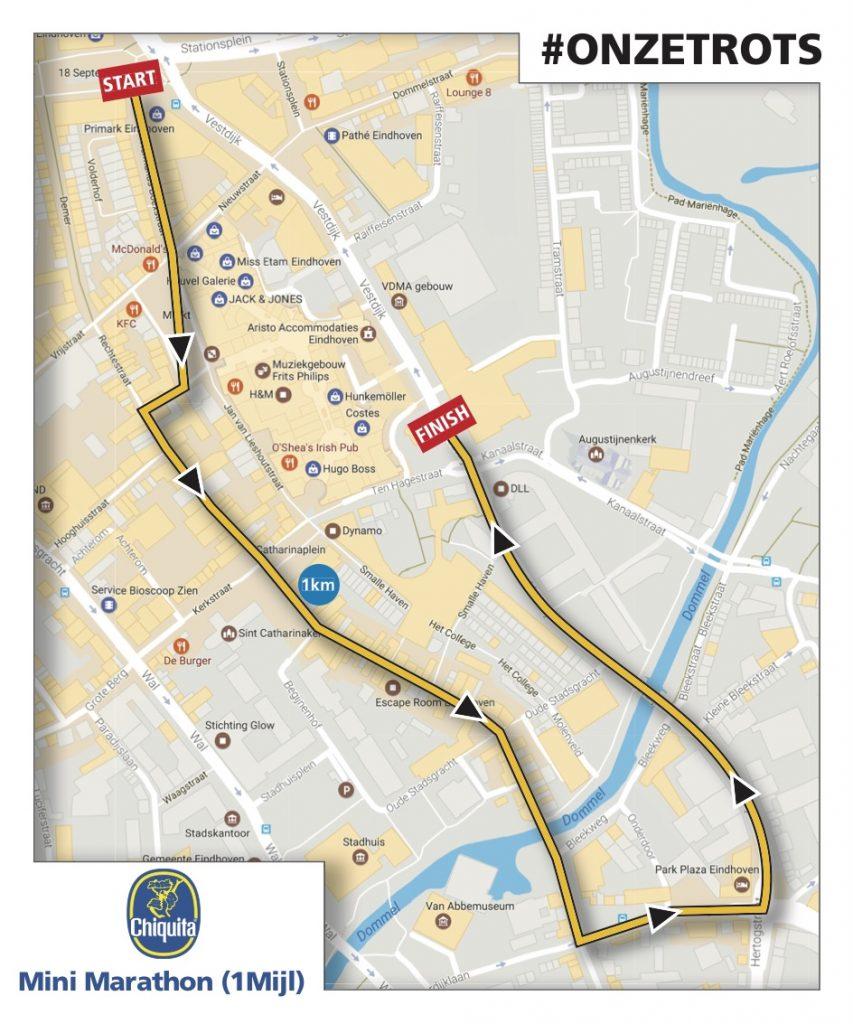 Трасса детского забега в рамках Эйндховенского марафона (Marathon Eindhoven powered by ASML) 2019