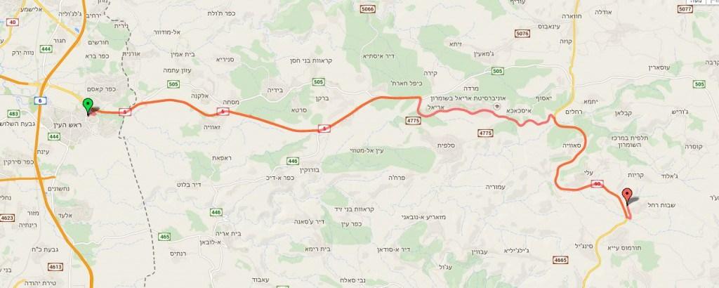 """Трасса Библейского марафона (מרתון התנ""""ך הבינלאומי, Bible Marathon) 2020"""
