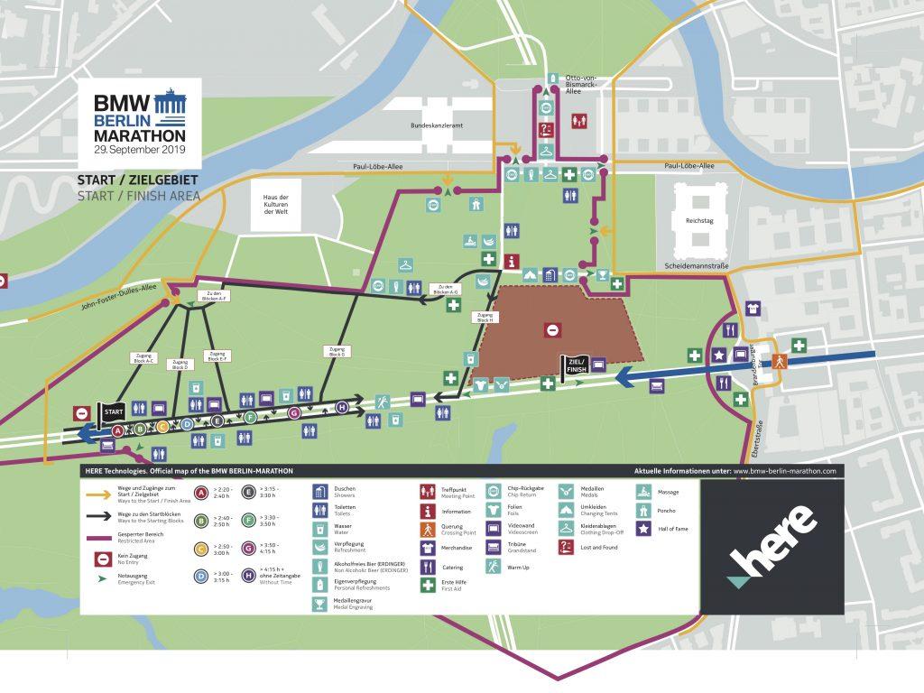 Зона старта и финиша Берлинского марафона (BMW Berlin-Marathon) 2019