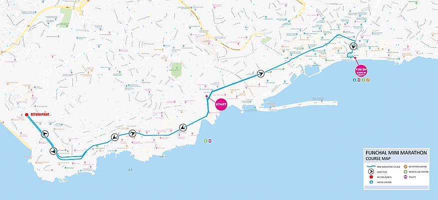 The course of the 8.35km Road Race (Mini Maratona) 2021