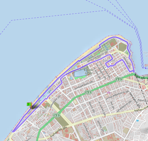 Трасса Батумского полумарафона (Great Batumi Night Race) 2020, 2-й круг