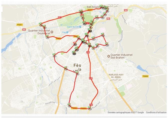 Трасса Фесского марафона (Marathon International de Fès) 2020