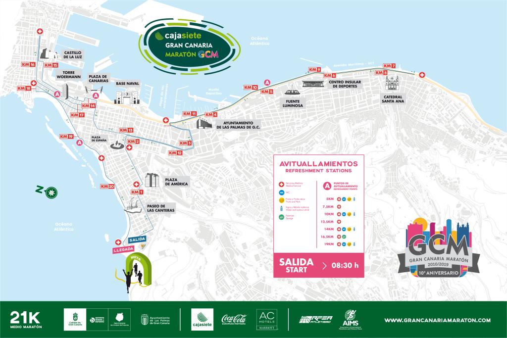 Трасса Гран-канарского полумарафона 2019
