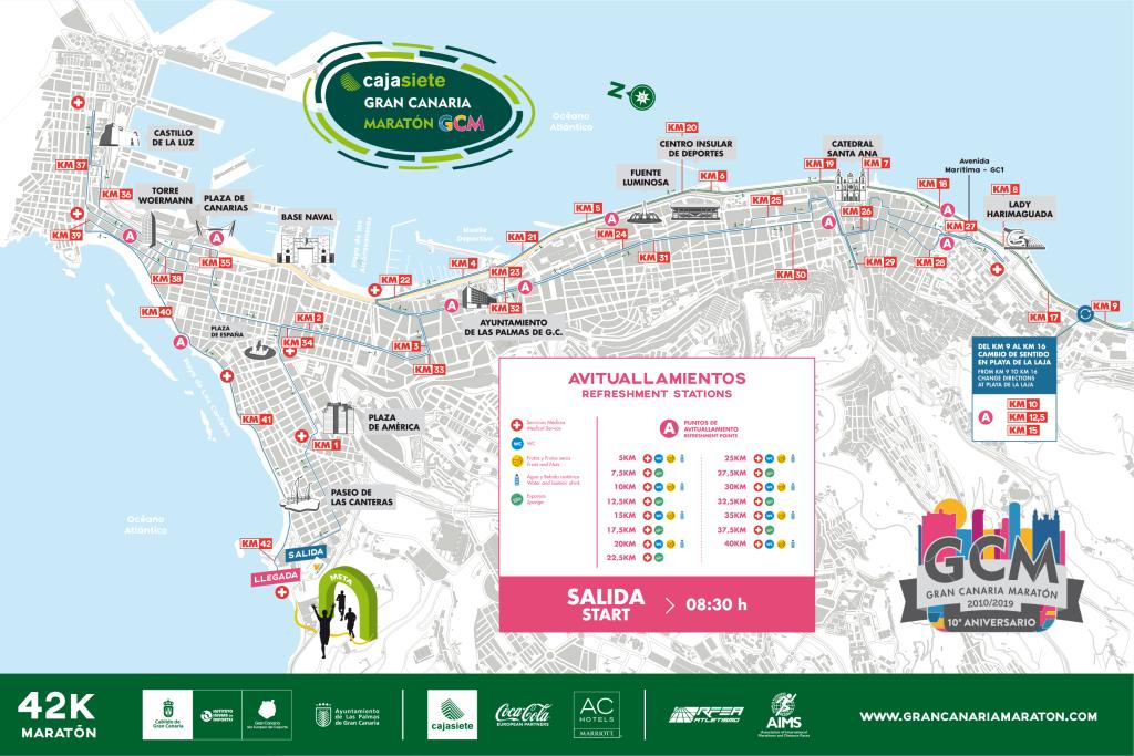 Трасса Гран-канарского марафона (Cajasiete Gran Canaria Maratón) 2019