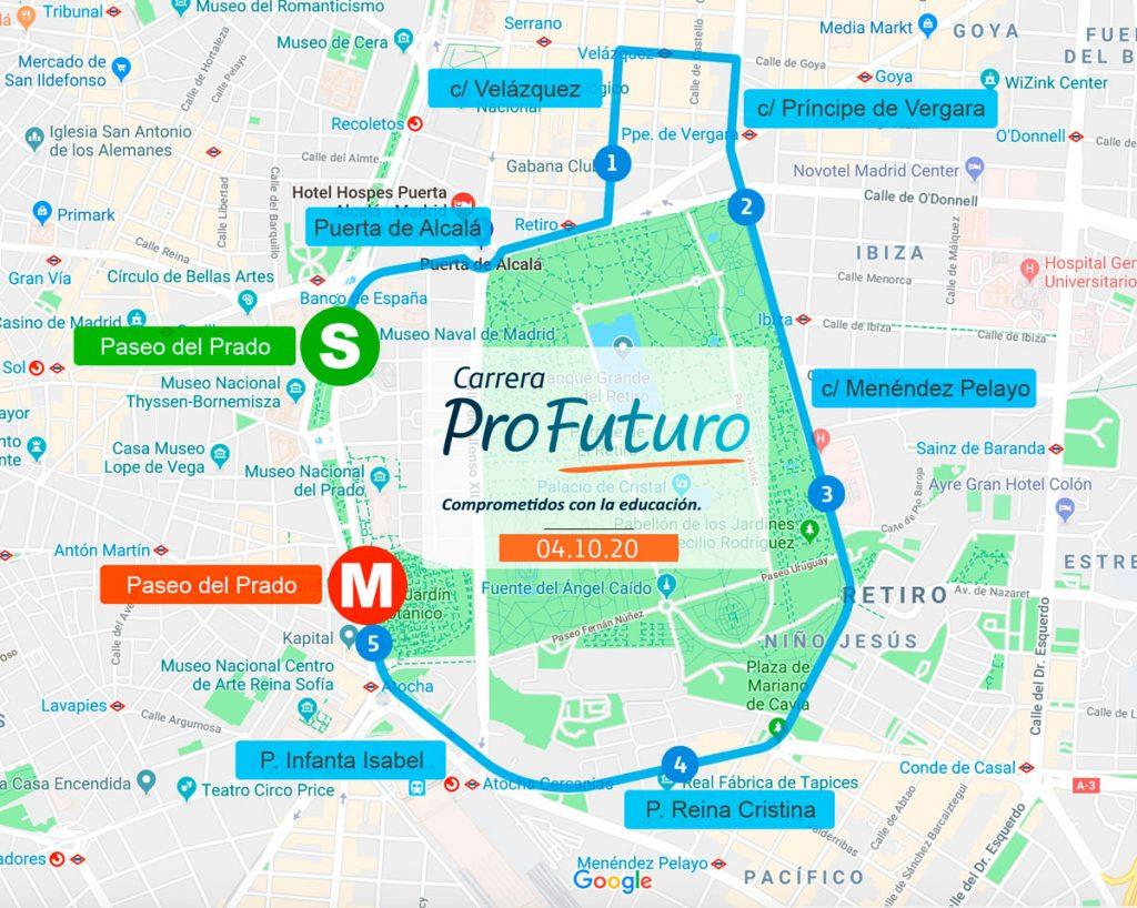 Трасса забега на 5 км Carrera 5k --- ProFuturo
