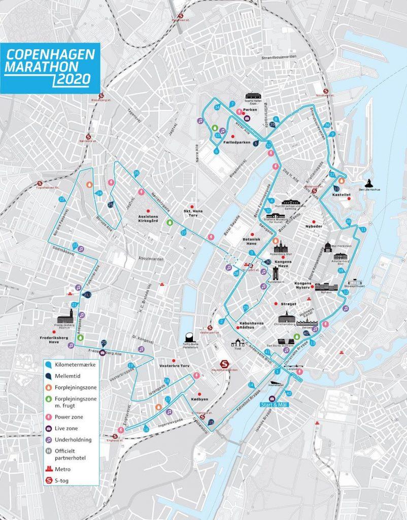 Трасса Копенгагенского марафона (Copenhagen Marathon) 2020