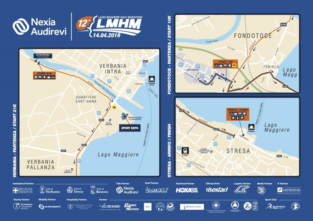 Зоны старта и финиша полумарафона озера Лаго-Маджоре (Nexia Audirevi Lago Maggiore Half Marathon) 2019