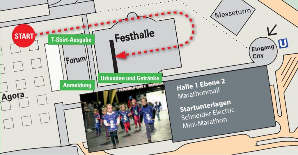 Трасса детского забега «Взъерошенный Петер» в рамках Франкфуртского марафона (Mainova Frankfurt Marathon) 2020