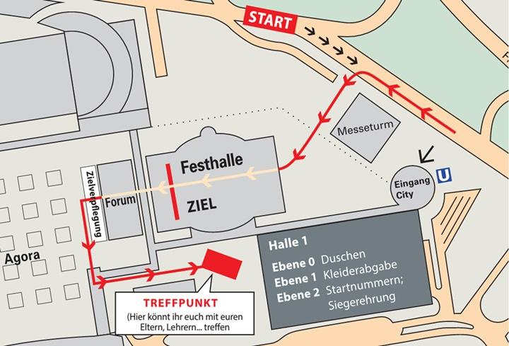 Трасса мини-марафона в рамках Франкфуртского марафона (Mainova Frankfurt Marathon) 2020