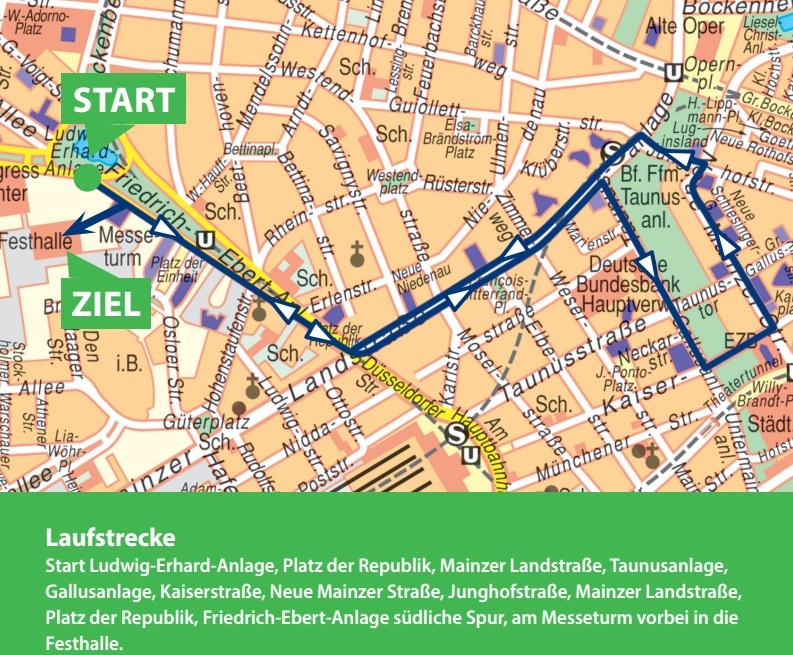 Трасса мини-марафона в рамках Франкфуртского марафона (Mainova Frankfurt Marathon) 2021