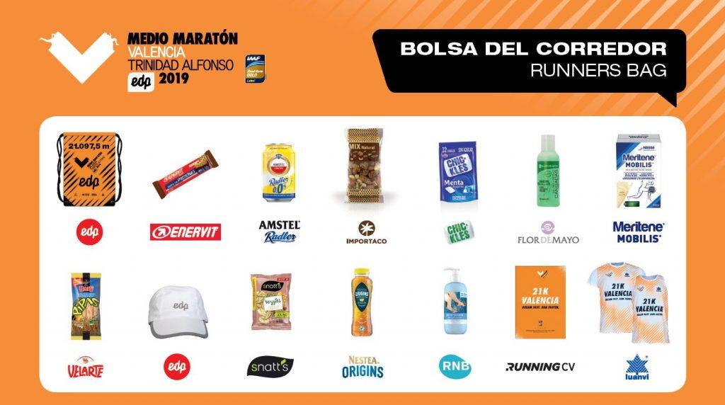 Стартовый пакет Валенсийского полумарафона (Medio Maratón Valencia Trinidad Alfonso EDP) 2019