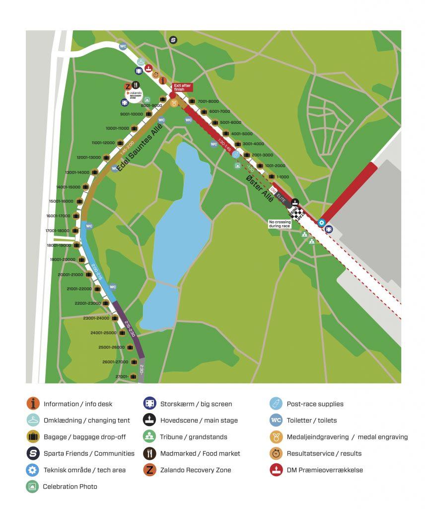 Зона старта Копенгагенского полумарафона (Copenhagen Half Marathon) 2020 со стартовыми блоками