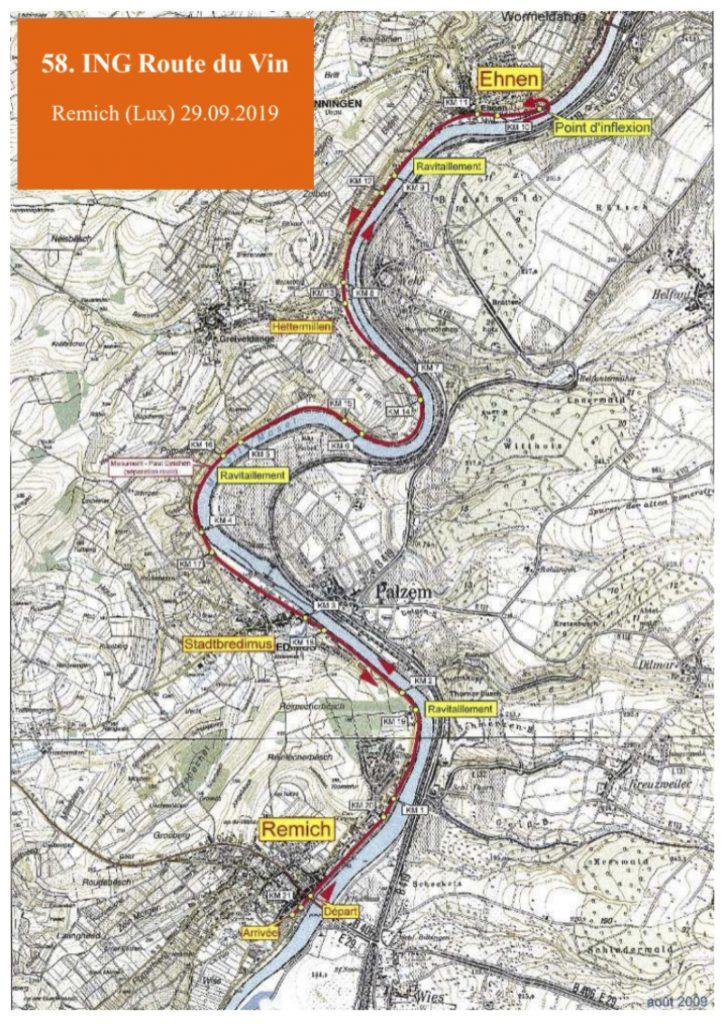 Трасса Люксембургского полумарафона «Дорога вина» (ING Route du Vin Semi-Marathon) 2019