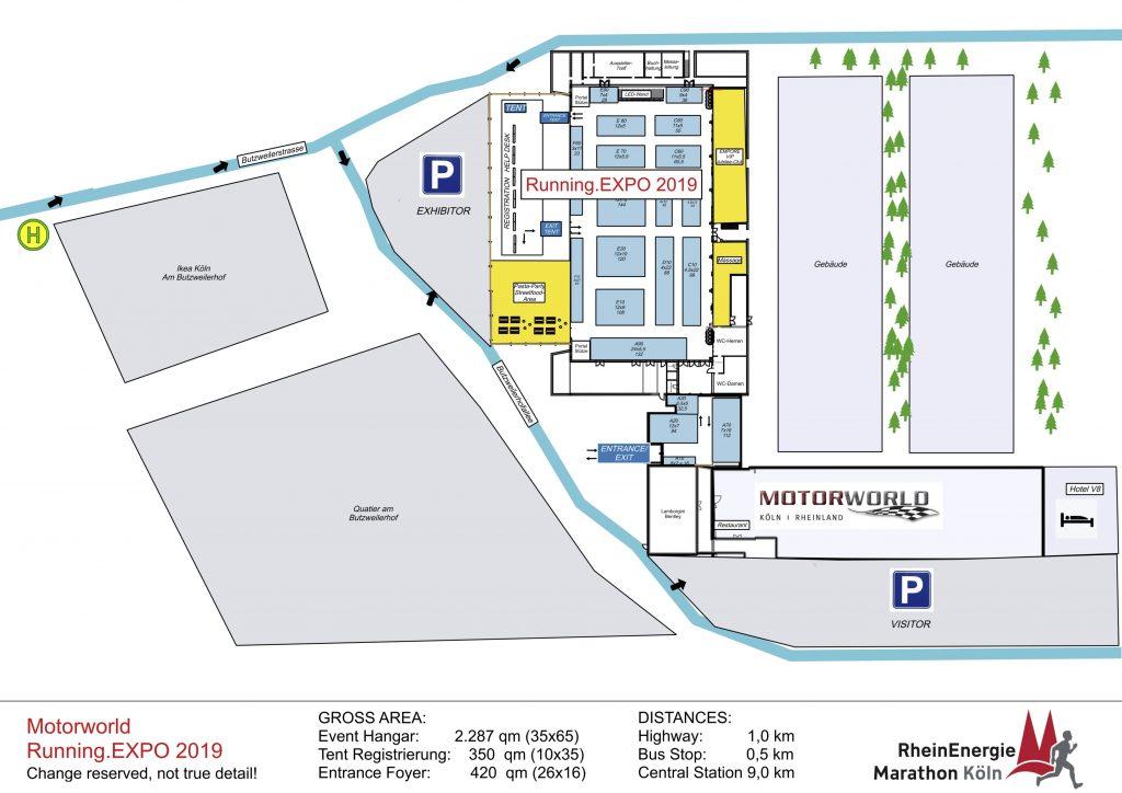 План выставки Кельнского марафона (RheinEnergie Marathon Köln) 2019--- Running.EXPO