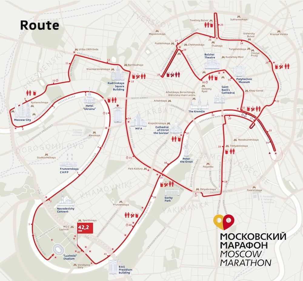 Трасса Московского марафона 2021