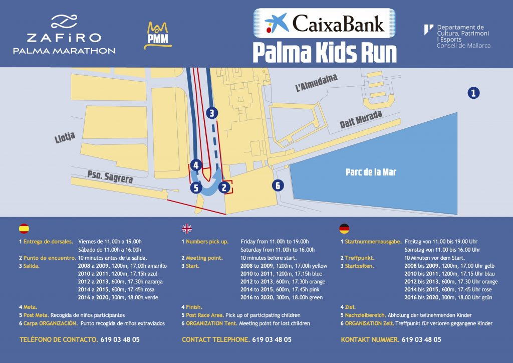 Course of the kids races, Palma Marathon (Zafiro Palma Marathon) 2021
