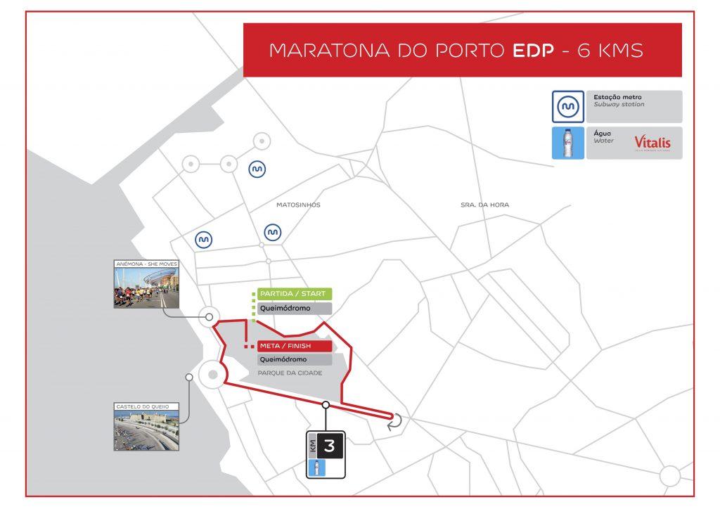 Трасса забега на 6 км в рамках Марафона в Порту (Maratona do Porto EDP) 2020