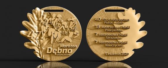 Медаль Дембненского марафона (Maraton Dębno) 2020