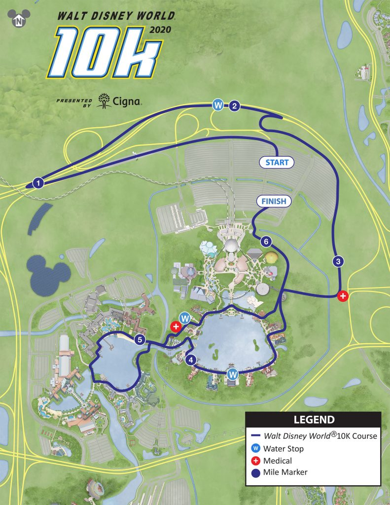 Course of the 10km Race, Walt Disney World® Marathon Weekend 2020