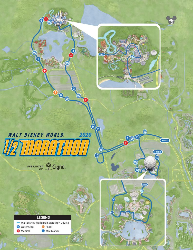 Course of the Walt Disney World® Half Marathon 2020