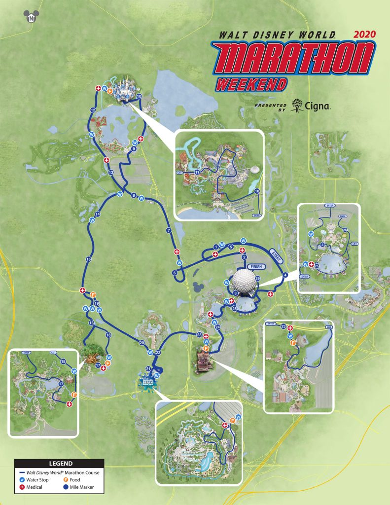 Course of the Walt Disney World® Marathon 2020