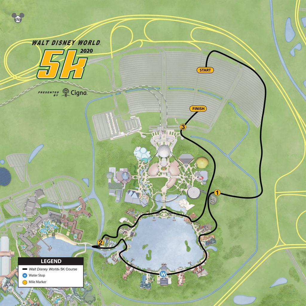 Course of the 5km Race, Walt Disney World® Marathon Weekend 2020