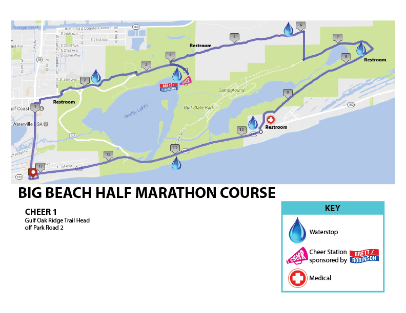 Course of the Big Beach Half Marathon 2021