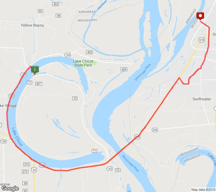 Course of the Mississippi River Marathon 2021