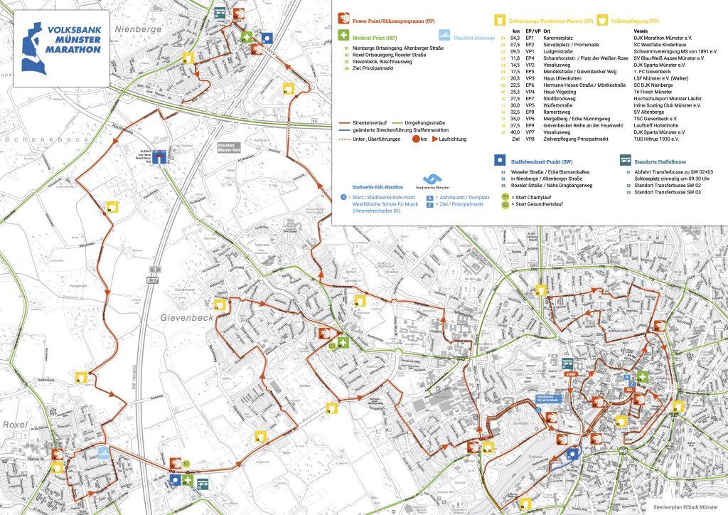 Трасса Мюнстерского марафона (Volksbank-Münster-Marathon) 2021